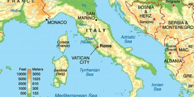 Rzym Mapa Mapy Rzym Lacjum Wlochy