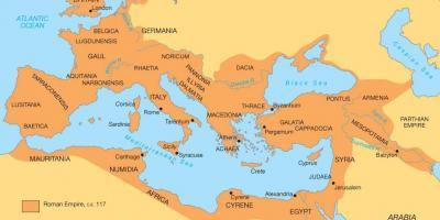 Starożytny Rzym Mapa Rzeki Tyber Fizyczna Mapa Starożytnego Rzymu Lazio Włochy